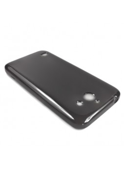 TPU Gel Case Cover for Huawei Ascend Y550 - Smoke Black