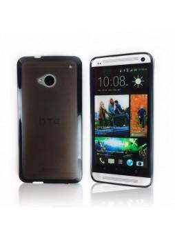 TPU   PC Case for HTC One M7 - Black