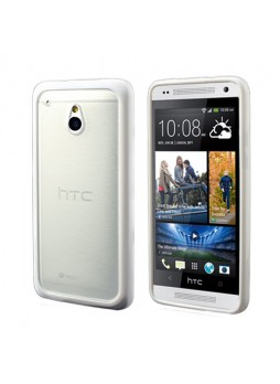 TPU   PC Case for HTC One mini M4 - White
