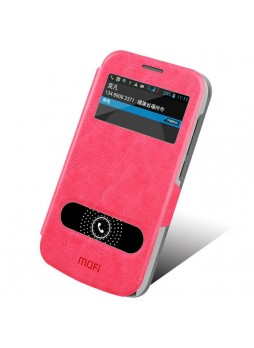 MOFI Leather Stand Flip Cover for Huawei Ascend Y600 - Pink