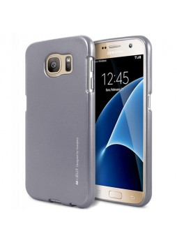 Mercury Goospery iJelly Gel Case For Samsung Galaxy S7 - Dark Grey