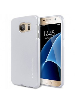 Mercury Goospery iJelly Gel Case For Samsung Galaxy S7 - Silver