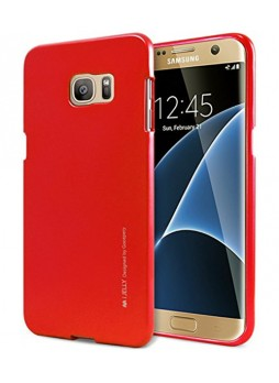 Mercury Goospery iJelly Gel Case For Samsung Galaxy S7 - Red