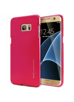 Mercury Goospery iJelly Gel Case For Samsung Galaxy S7 Edge - Hot Pink