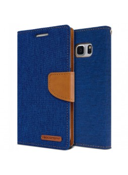 Korean Mercury Canvas Diary Wallet Case For Samsung Galaxy Note 7 -  Royal Blue