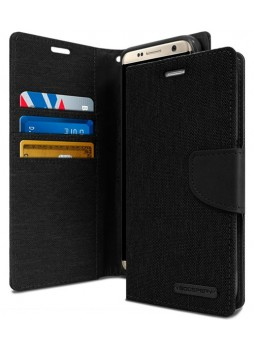 Mercury Goospery Canvas Diary Stand Wallet Case Cover For Samsung Galaxy S8 Black