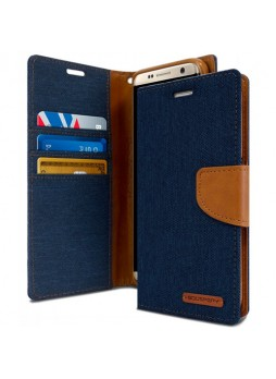 Mercury Goospery Canvas Diary Stand Wallet Case Cover For Samsung Galaxy S8 Navy
