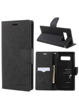 Korean Mercury Fancy Diary Wallet Case For Samsung Galaxy Note 8 - Black