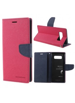 Korean Mercury Fancy Diary Wallet Case For Samsung Galaxy Note 8 - Hot Pink