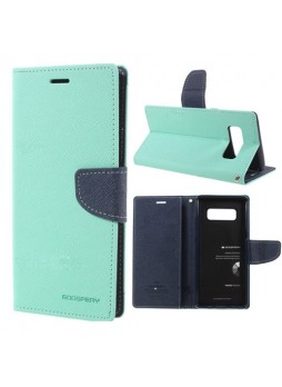 Korean Mercury Fancy Diary Wallet Case For Samsung Galaxy Note 8 - Mint
