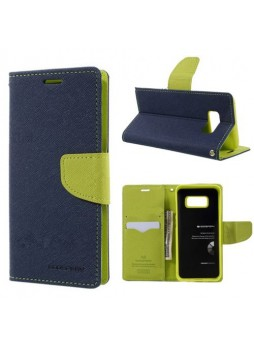 Korean Mercury Fancy Diary Wallet Case For Samsung Galaxy Note 8 - Navy