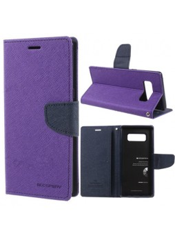 Korean Mercury Fancy Diary Wallet Case For Samsung Galaxy Note 8 - Purple