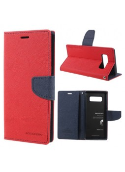 Korean Mercury Fancy Diary Wallet Case For Samsung Galaxy Note 8 - Red