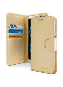 Mercury Goospery Sonata Diary Stand Wallet Case For Samsung Galaxy Note 8 - Gold