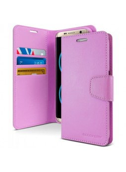 Mercury Goospery Sonata Diary Stand Wallet Case For Samsung Galaxy Note 8 - Purple
