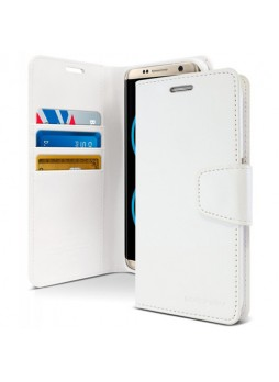 Mercury Goospery Sonata Diary Stand Wallet Case For Samsung Galaxy Note 8 - White