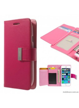 Korean Mercury Rich Diary Wallet Case For iPhone 7/8 4.7 inch - Hot Pink