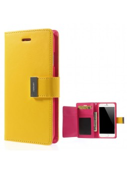 Korean Mercury Rich Diary Wallet Case For iPhone 7/8 4.7 inch - Yellow