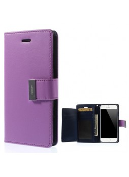 Korean Mercury Rich Diary Wallet Case For iPhone 7/8 4.7 inch - Purple