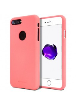 Genuine Mercury Goospery Soft Feeling Jelly Case Matt Rubber For iPhone 7 Plus - Coral