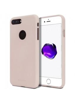 Genuine Mercury Goospery Soft Feeling Jelly Case Matt Rubber For iPhone 7 Plus - Pink Sand