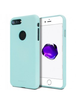 Genuine Mercury Goospery Soft Feeling Jelly Case Matt Rubber For iPhone 8 Plus - Mint