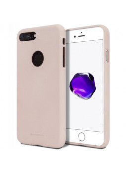 Genuine Mercury Goospery Soft Feeling Jelly Case Matt Rubber For iPhone 8 Plus - Pink Sand