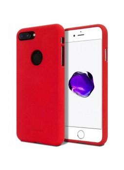 Genuine Mercury Goospery Soft Feeling Jelly Case Matt Rubber For iPhone 8 Plus - Red