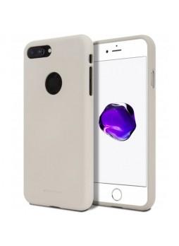 Genuine Mercury Goospery Soft Feeling Jelly Case Matt Rubber For iPhone 8 Plus - Stone