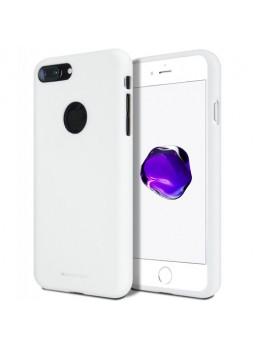 Genuine Mercury Goospery Soft Feeling Jelly Case Matt Rubber For iPhone 8 Plus - White