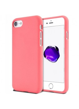 Genuine Mercury Goospery Soft Feeling Jelly Case Matt Rubber For iPhone 7/8 - Coral