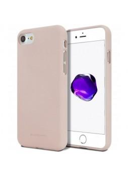Genuine Mercury Goospery Soft Feeling Jelly Case Matt Rubber For iPhone 7/8 - Pink Sand