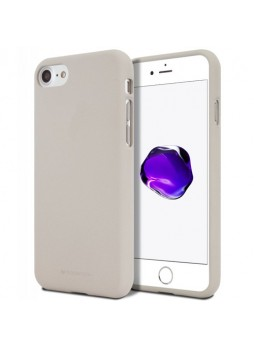 Genuine Mercury Goospery Soft Feeling Jelly Case Matt Rubber For iPhone 7/8 - Stone