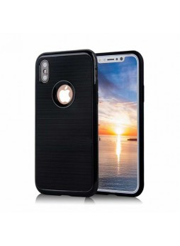 Rugged Shockproof Tough Back Case For iPhone X - Black