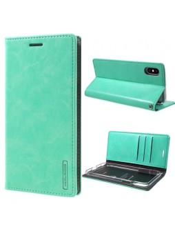 Korean Mercury BlueMoon Flip Case Cover For iPhone X / XS 5.8'' - Mint