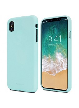 Genuine Mercury Goospery Soft Feeling Jelly Case Matt Rubber For iPhone X / XS 5.8'' - Mint