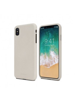 Genuine Mercury Goospery Soft Feeling Jelly Case Matt Rubber For iPhone X / XS 5.8'' - Stone
