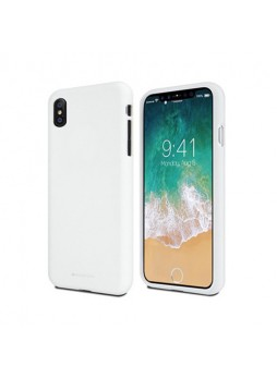 Genuine Mercury Goospery Soft Feeling Jelly Case Matt Rubber For iPhone X  / XS 5.8''- White