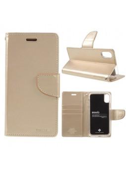 Korean Mercury Bravo Diary Wallet Case For iPhone X  / XS 5.8''- Gold