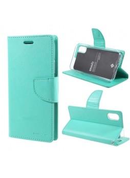 Korean Mercury Bravo Diary Wallet Case For iPhone X  / XS 5.8''- Mint