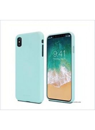 Korean Mercury Soft feeling  Jelly Case For Iphone  XR  6.1'' Mint Green