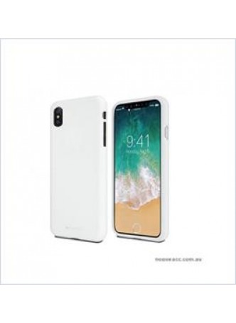 Korean Mercury Soft feeling  Jelly Case For Iphone  XS MAX 6.5'' White