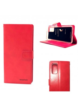 Bluemoon Diary Wallet Case For Samsung A71 6.7 inch  A715  Red