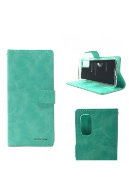 Bluemoon Diary Wallet Case For Samsung A71 6.7 inch  A715  Mint Green