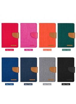 Mercury Canvas Diary Type Flip Case for Apple iPad mini 4 - Red
