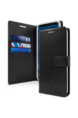 Mercury Goospery Blue Moon Diary Wallet Case For iPhone 13 Pro MAX 6.7inch  Black