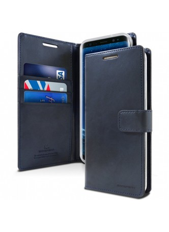 Mercury Goospery Blue Moon Diary Wallet Case For iPhone 13 Pro MAX 6.7inch  Navy Blue