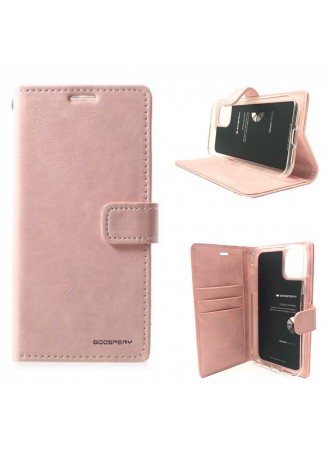 Mercury Goospery Blue Moon Diary Wallet Case For iPhone 13 Pro MAX 6.7inch  Rose Gold