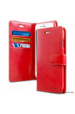 Mercury Goospery Blue Moon Diary Wallet Case For iPhone 13 Pro MAX 6.7inch  Red