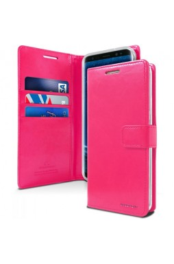 Mercury Goospery Blue Moon Diary Wallet Case For iPhone 13 Pro 6.1inch  Hotpink